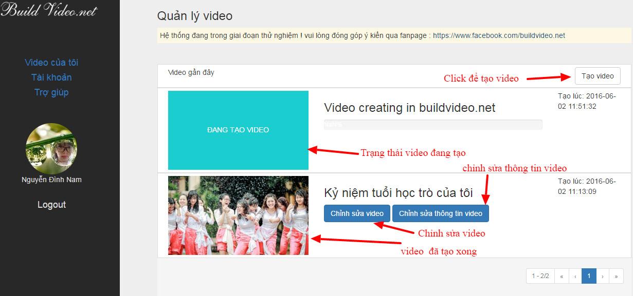 Hướng dẫn build video online nhanh chóng với hiệu ứng đẹp